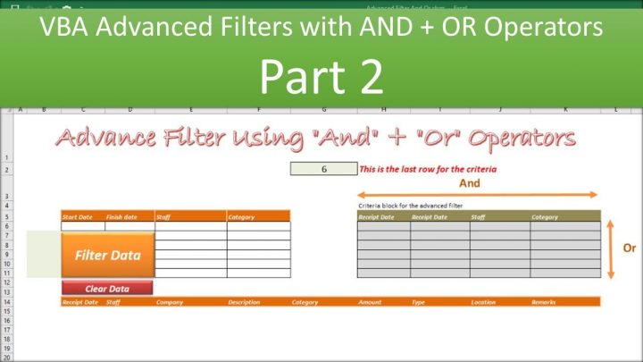 VBA Advanced Filter And Or Operators – Part 2
