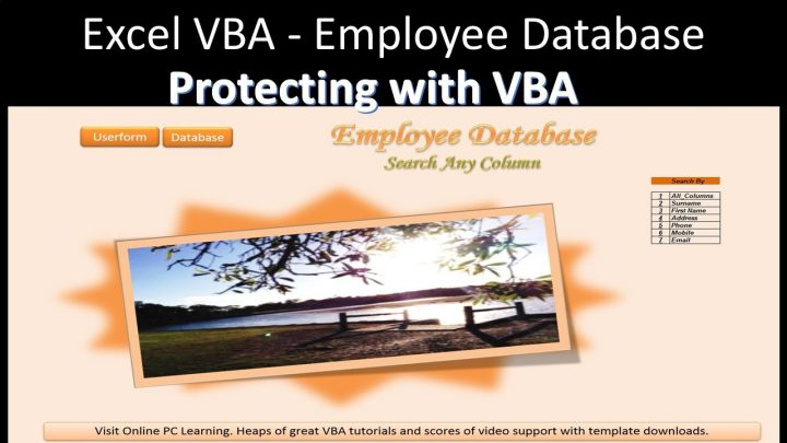 Protecting Worksheets with VBA